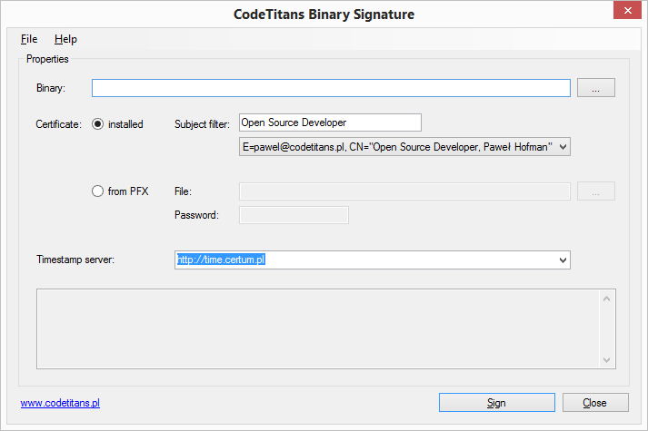 Signature Application Preview
